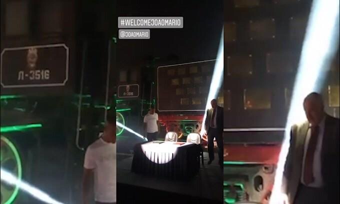 Mosca, Joao Mario arriva in...locomotiva