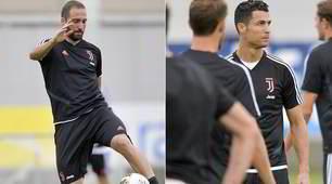 La Juve si allena: Ramsey ko, Higuain punta il Napoli