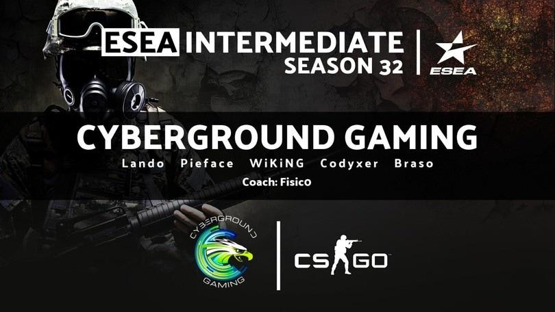 CSGO: I Cyberground rivoluzionano la formazione per l'ESEA Intermediate