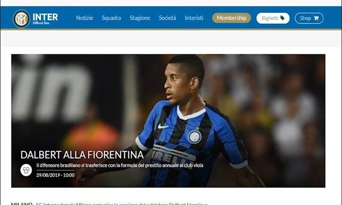 Inter-Fiorentina, ufficiale lo scambio Dalbert-Biraghi