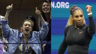 Us Open: Gigi Hadid in delirio alla vittoria di Serena