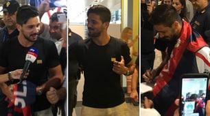 Cagliari, è arrivato Simeone: grande entusiasmo all'aeroporto