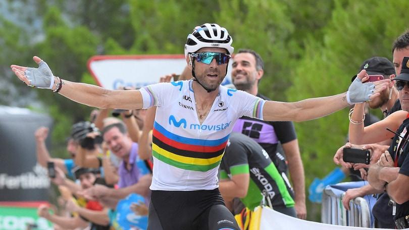 Valverde vince la settima tappa della Vuelta: Lopez torna leader
