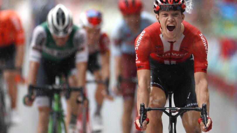 Vuelta: Arndt vince l'ottava tappa, Edet nuova maglia rossa