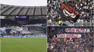 Lazio e Roma omaggiano Diabolik: le coreografie dei tifosi