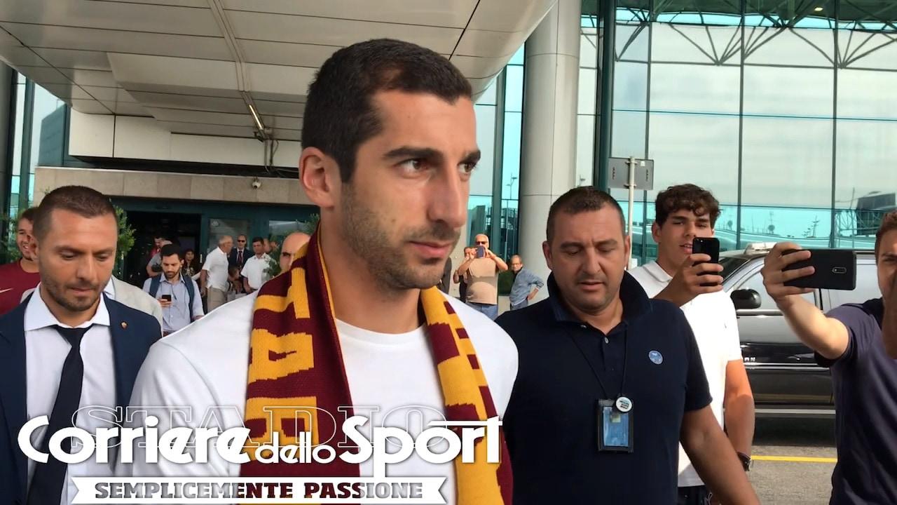 Roma, tifosi in festa: Mkhitaryan è sbarcato a Fiumicino