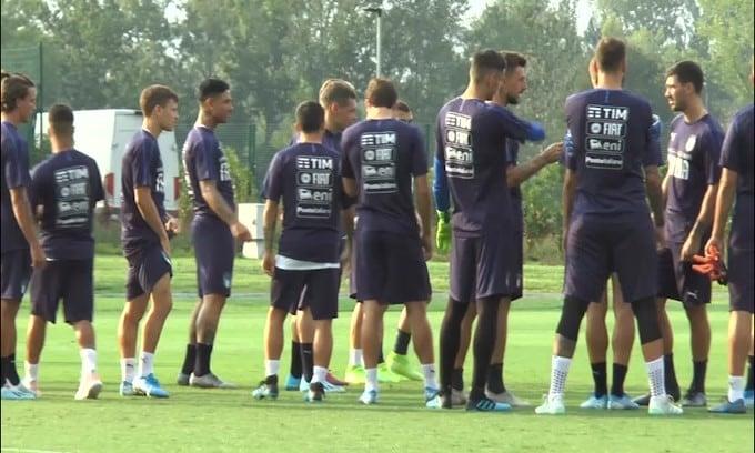 Primo allenamento per l'Italia di Mancini verso Euro 2020