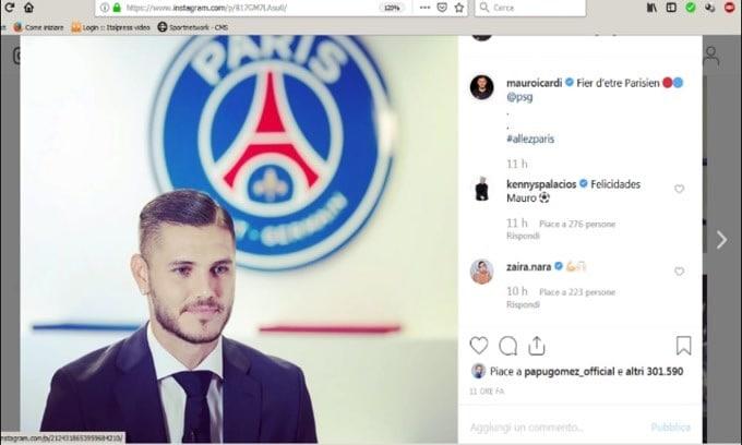 """Icardi si presenta al PSG: """"Contento di essere qui"""""""