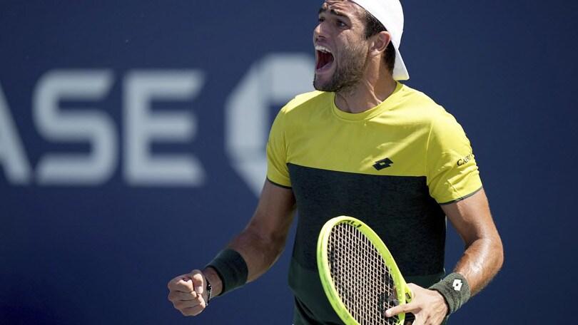 """Berrettini ai quarti degli Us Open: """"Non voglio fermarmi"""""""