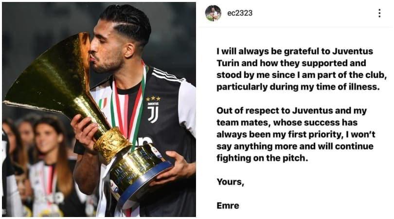 "Emre Can frena: ""Juve, sempre grazie. Lotterò sul campo"""