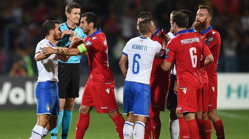 Moviola Armenia-Italia:Belotti, no offside. Karapetyan non era da espulsione