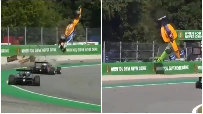 Alex Peroni, incidente spaventoso a Monza: la macchina vola in aria!