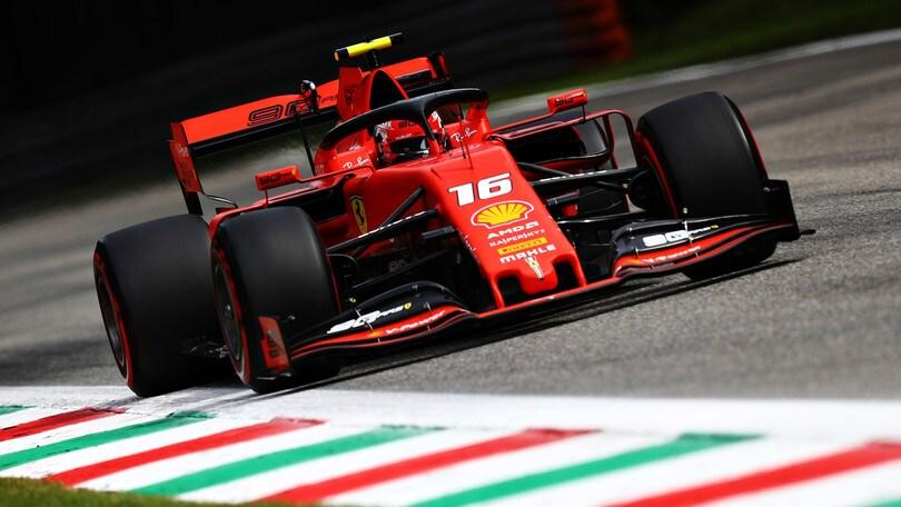 Gp d'Italia: Leclerc in pole, Vettel quarto