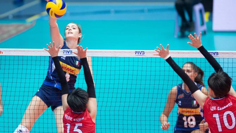 Mondiali U 18 Femminili: l'Italia travolge la Corea del Sud