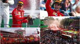Leclerc super a Monza: che festa sul podio!