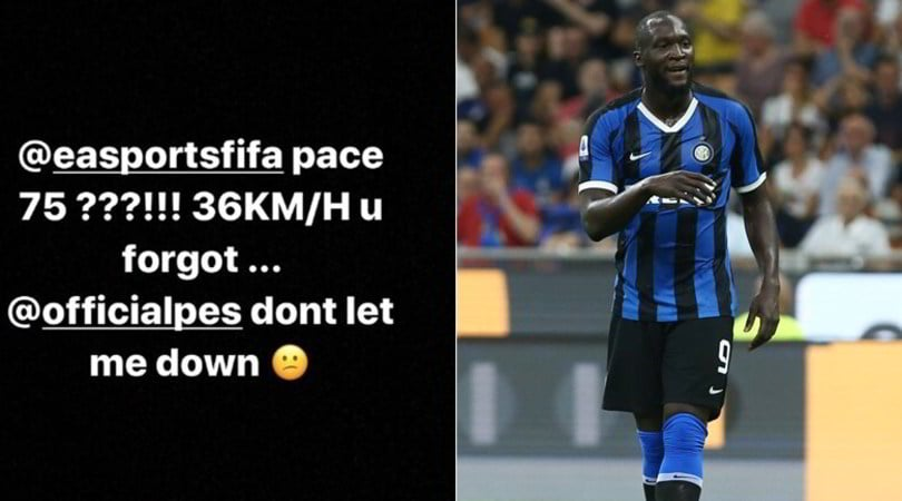 """Lukaku aFifa 20: """"Vado più veloce. PES, non deludermi"""""""