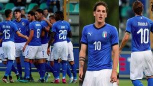 Italia Under 21 show: Zaniolo con la 10, manita al Lussemburgo