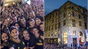 L'Inter presenta la terza maglia davanti a 5 mila tifosi