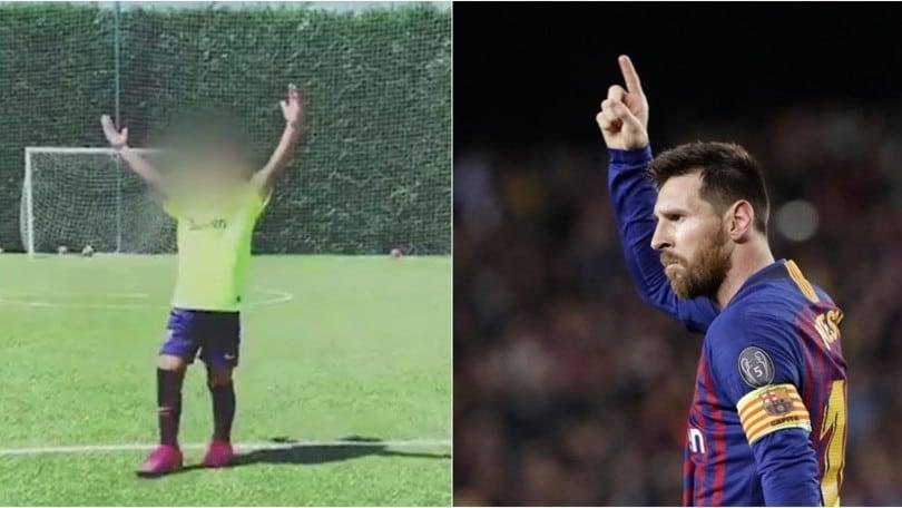 Il figlio di Messi pronto a sfidare Cristianinho