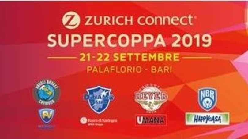 A Bari le finali di Supercoppa di basket