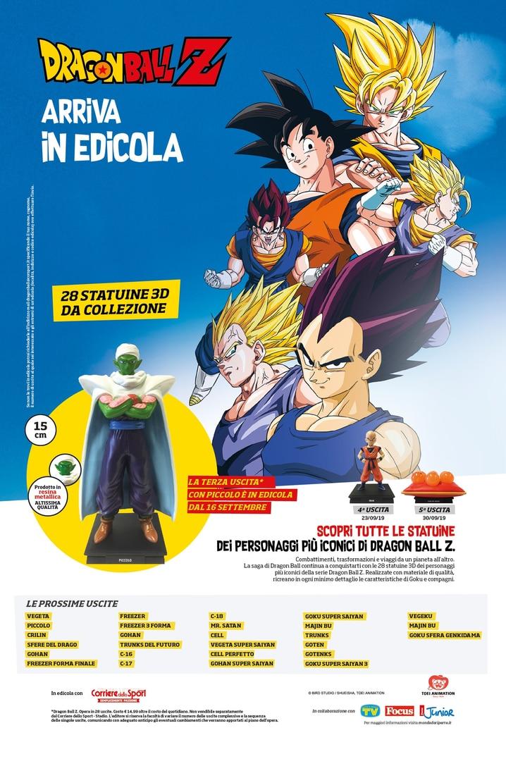 Dragon Ball Z arriva in edicola con il Corriere dello Sport - Stadio