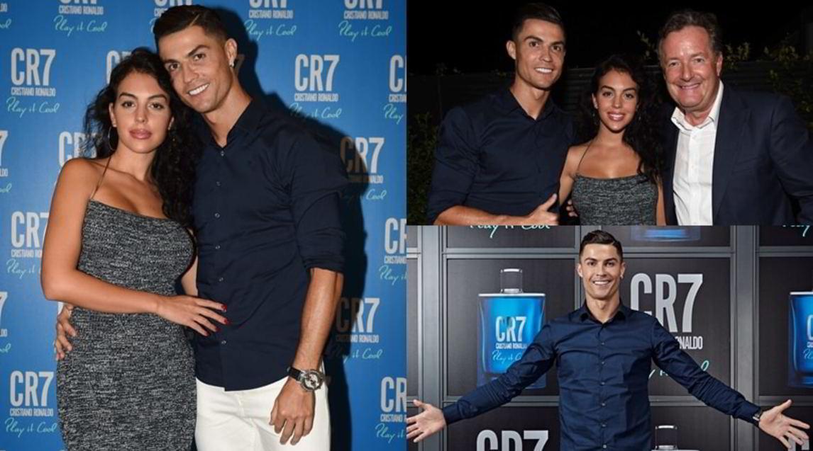 """<p>Il 7 della Juventus e la suacompagna hanno lanciatola nuova fragranza """"CR7 Play It Cool"""": tutte le foto</p>"""