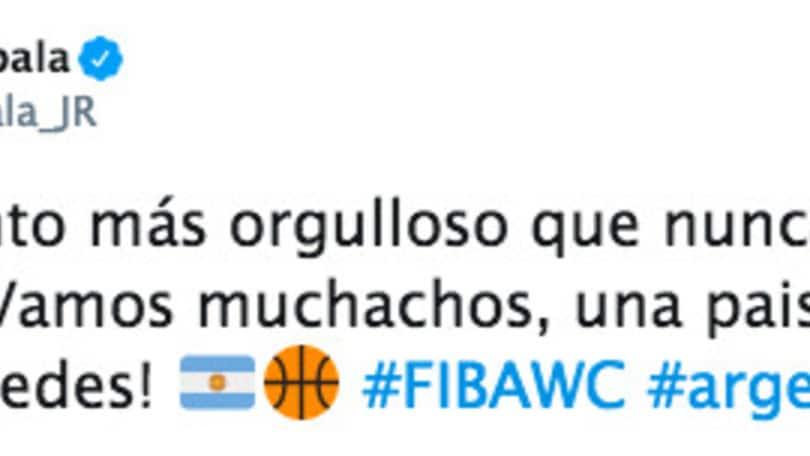 """Dybala esalta l'Argentina di basket: """"Forza ragazzi, tutti con voi"""""""
