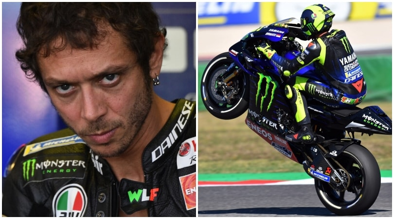MotoGp Misano, Valentino Rossi impenna per i tifosi