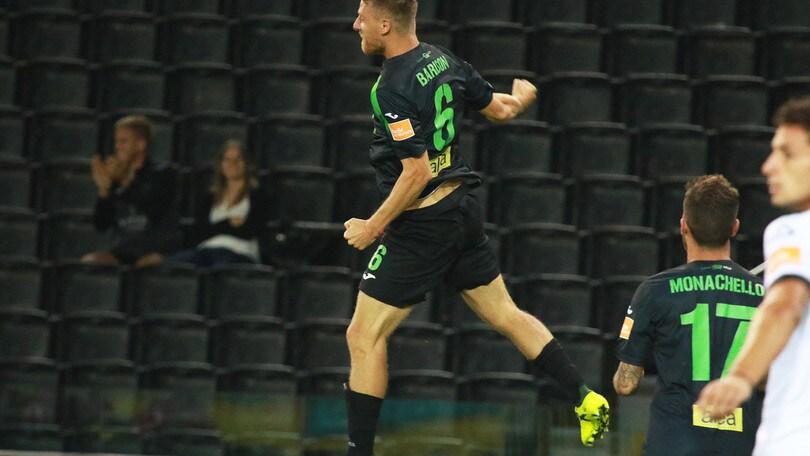 Pordenone-Spezia 1-0: decide un gran colpo di testa di Barison