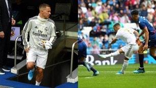 Hazard all'esordio nel Real Madrid: il Bernabeu lo applaude