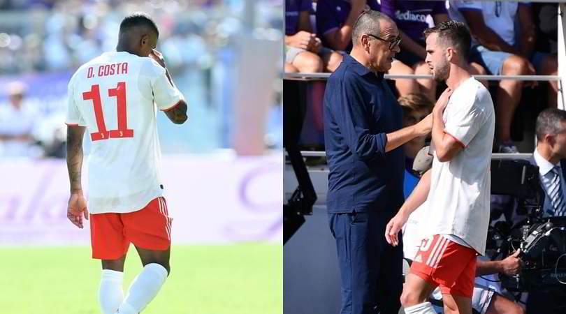 Douglas Costa e Pjanic, infortuni muscolari: saltano l'Atletico Madrid