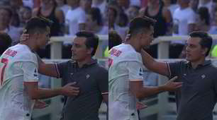 Fiorentina-Juve, l'abbraccio fra Ronaldo e Montella