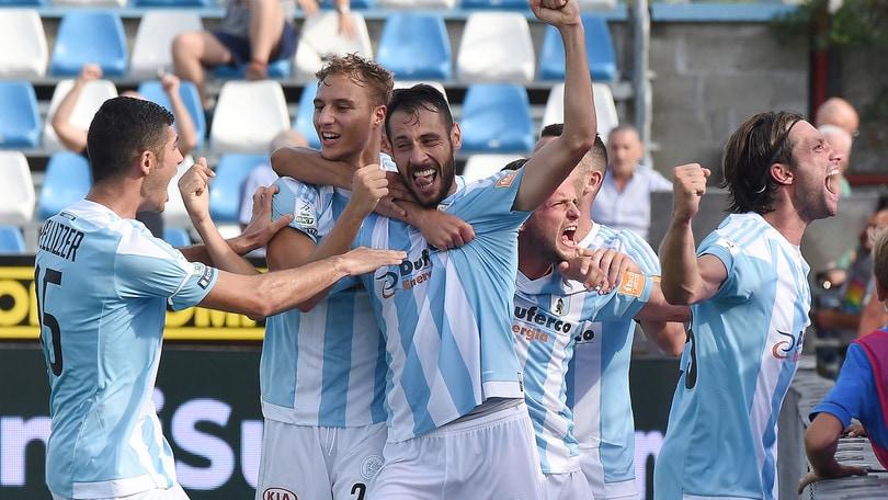 Serie B, vola l'Entella. Vincono Ascoli e Cittadella, crisi per Livorno e Trapani