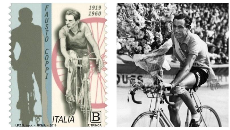 Fausto Coppi, un francobollo celebra i cent'anni dalla nascita