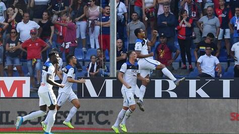 Atalanta all'ultimo respiro: 2-1 al Genoa nel segno di Zapata