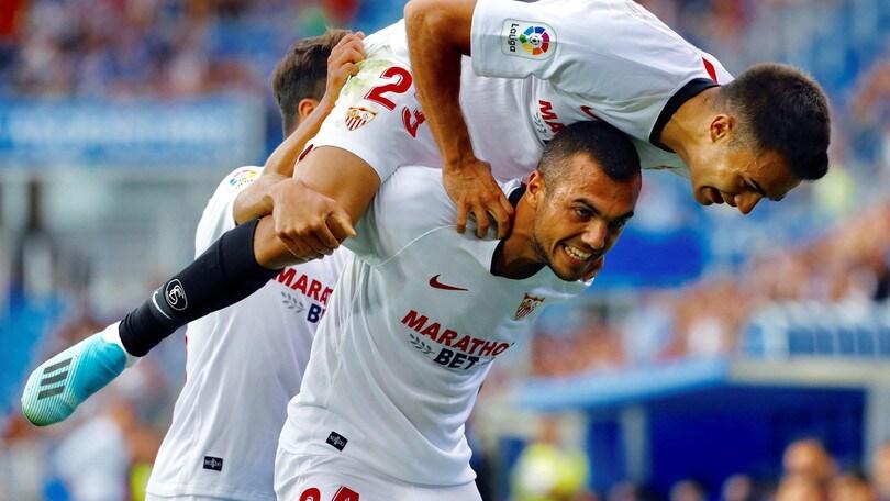 Liga: il Siviglia si impone sull'Alaves e balza in vetta alla classifica