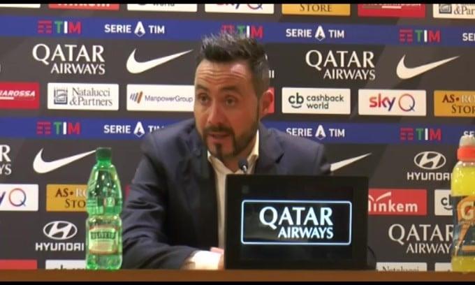"""De Zerbi: """"Abbiamo agevolato la Roma"""""""