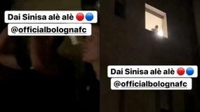 Il Bologna va a festeggiare in ospedale, Mihajlovic applaude in finestra