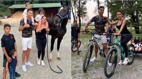 Ronaldo, gita in bici con la famiglia in vista dell'Atletico