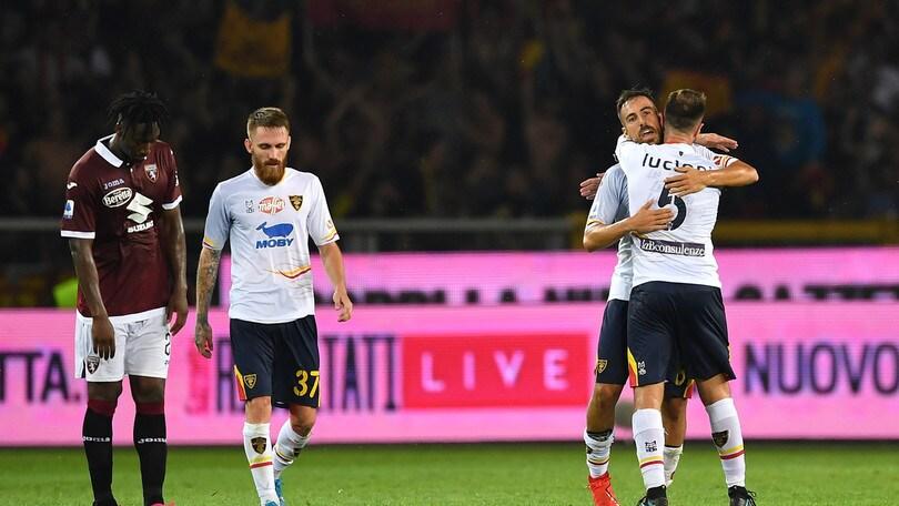 Il Lecce fa festa a Torino: Farias e Mancosu firmano il successo