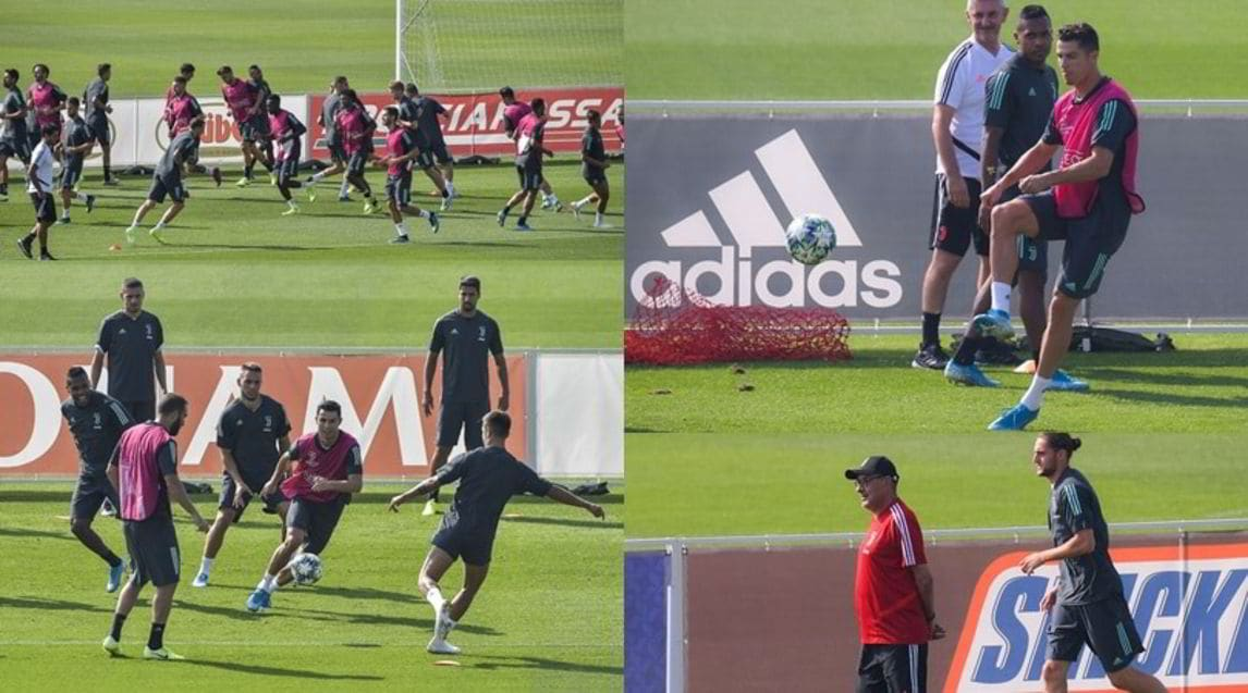 <p>I bianconeri si sono allenati alla Continassa. Oggi pomeriggio partiranno per la Spagna, dove domani affronteranno la squadra di Simeone</p>