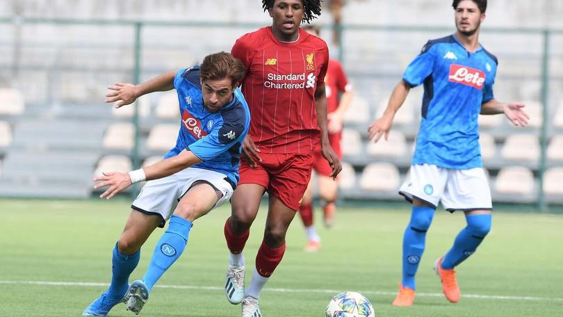 Youth League, pari del Napoli con il Liverpool. Poker dell'Inter
