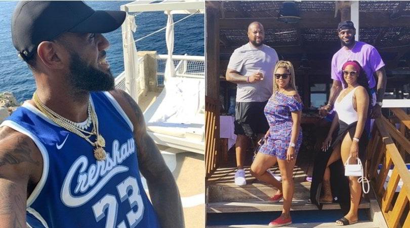LeBron James, vacanza a Capri con la famiglia