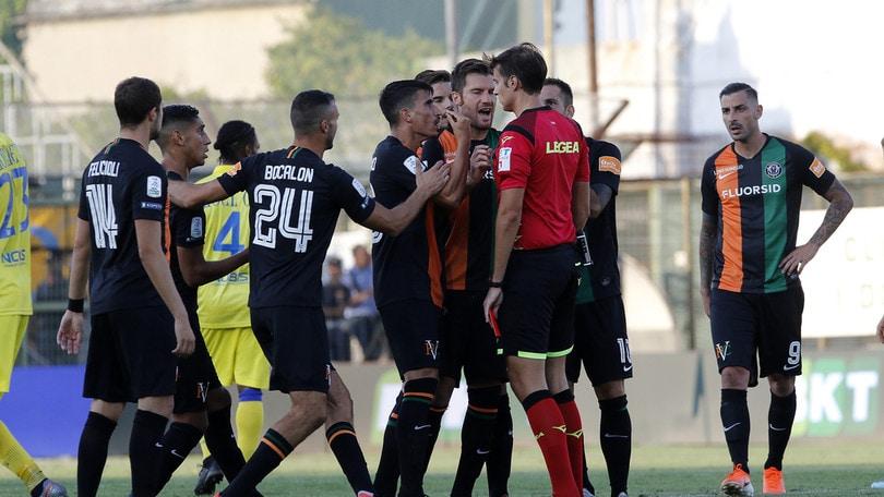 Serie B, due giornate di squalifica per Aramu del Venezia