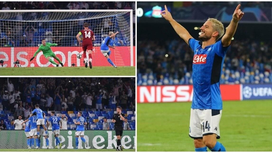 Vittoria di prestigio al debutto stagionale in Champions contro i Reds campioni d'Europa in carica: il belga apre all'82' su rigore (portandosi a -2 da Maradona nella classifica all time con la maglia azzurra), l'ex Juve raddoppia al 92'