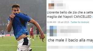 Llorente bacia la maglia del Napoli. La reazione dei tifosi
