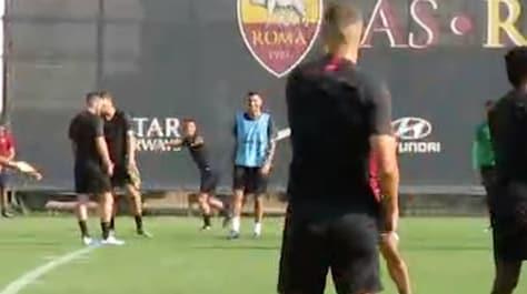 Dzeko e Florenzi, botta e risposta a Trigoria: i giocatori della Roma ridono