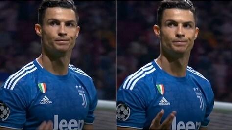 Juve, Cristiano Ronaldo spaventa l'Atletico Madrid al 94': il gesto ai tifosi