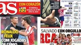 """""""Nè Ronaldo, né Felix. Herrera!"""". I commenti della stampa estera su Atletico-Juve"""