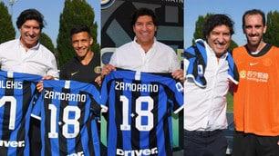 Visita speciale per l'Inter: c'è Zamorano con la maglia 1+8
